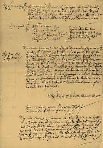 Keysworth Manor Court Minutes of 1597